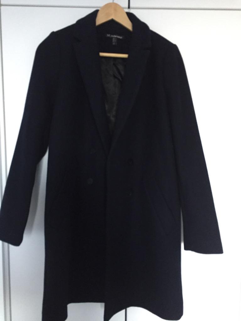 Zara Navy Coat - Size Small