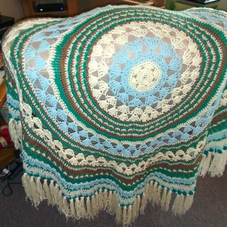 Handcrafted crocheted blanket