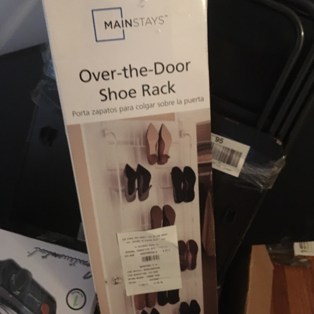 Brand Mainstay Over-the Door Shoe Rack $23 brand new or best offer