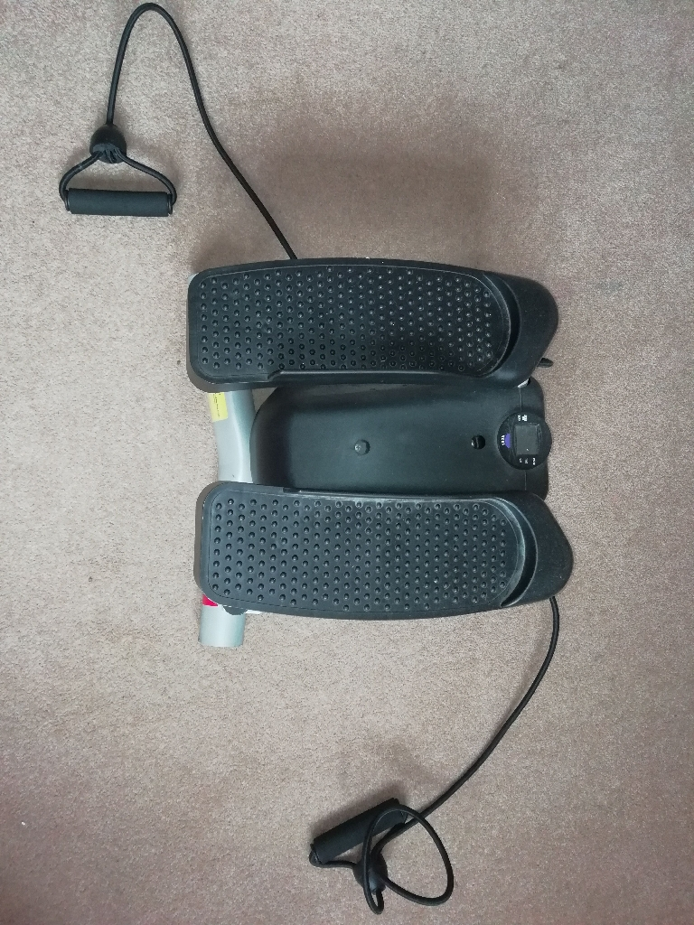 Stepper with arm curlers