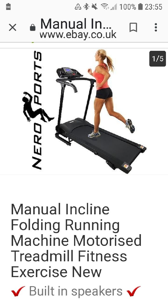 Nero sport treadmill