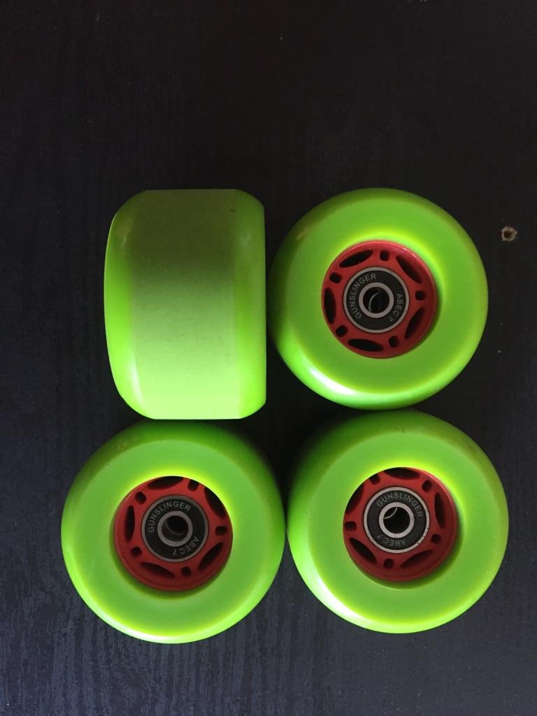 Gunslinger 78a wheels w. Abec7 bearings