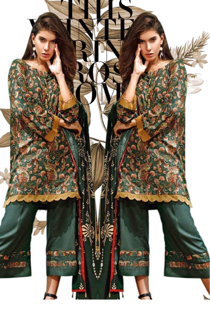 Ittehad Printed Linen stitched suits