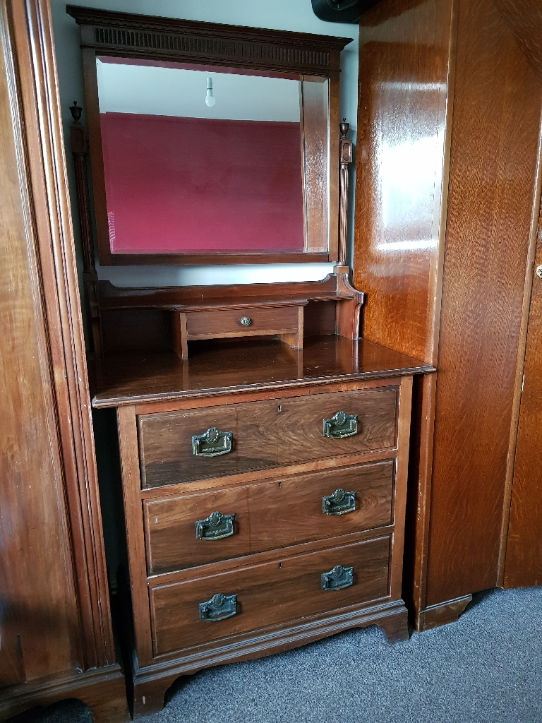 Antique furniture wardrobe's and Dressing table.