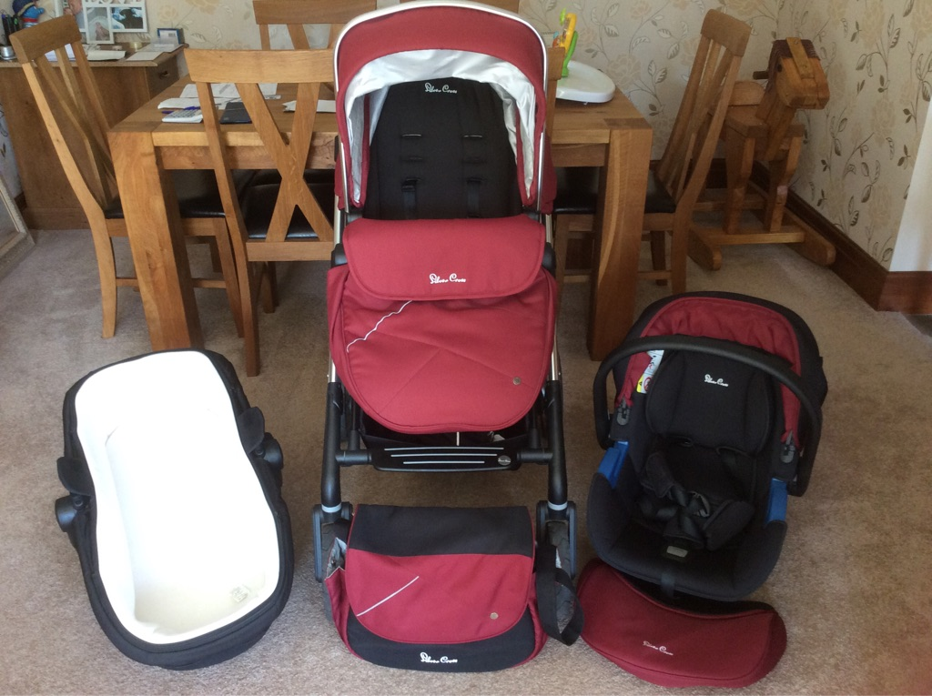 Silver Cross Wayfarer Pram in Vintage Red