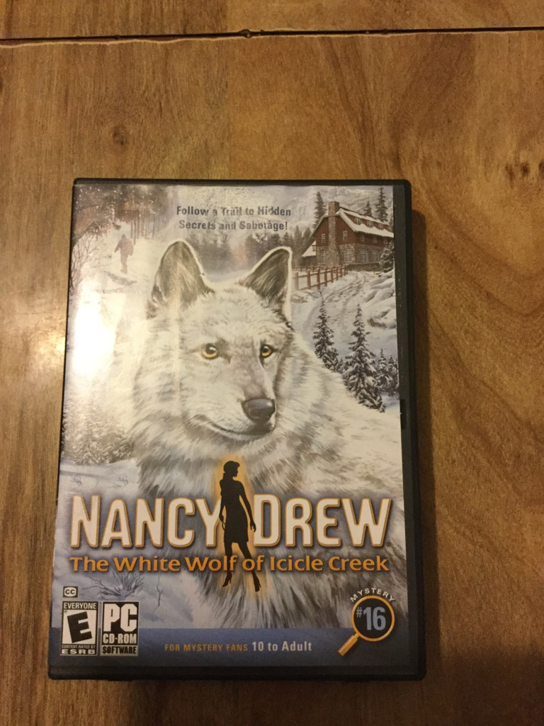 Nancy Drew The White Wolf of Icicle Creek [PC Game]$20 or best offer no holds