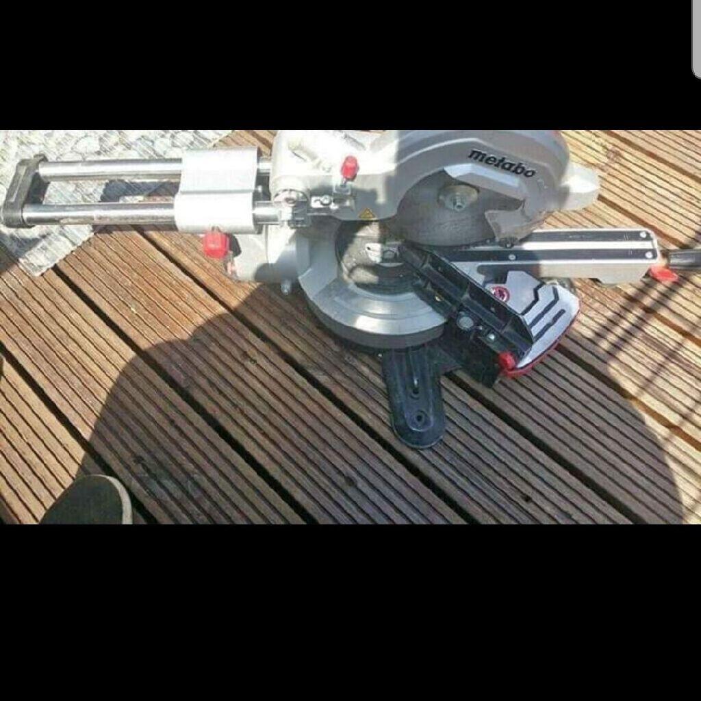 240v metabo mitre saw used 1