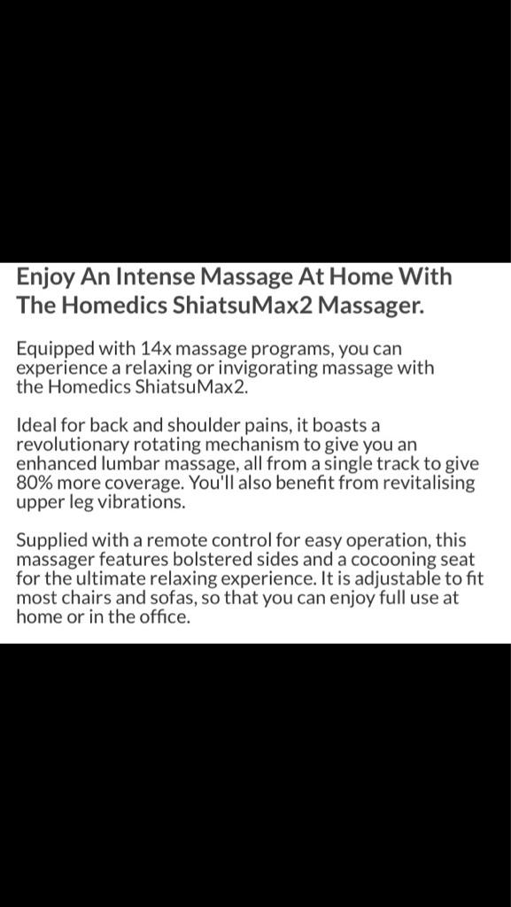 New shiatsu max muscle massager