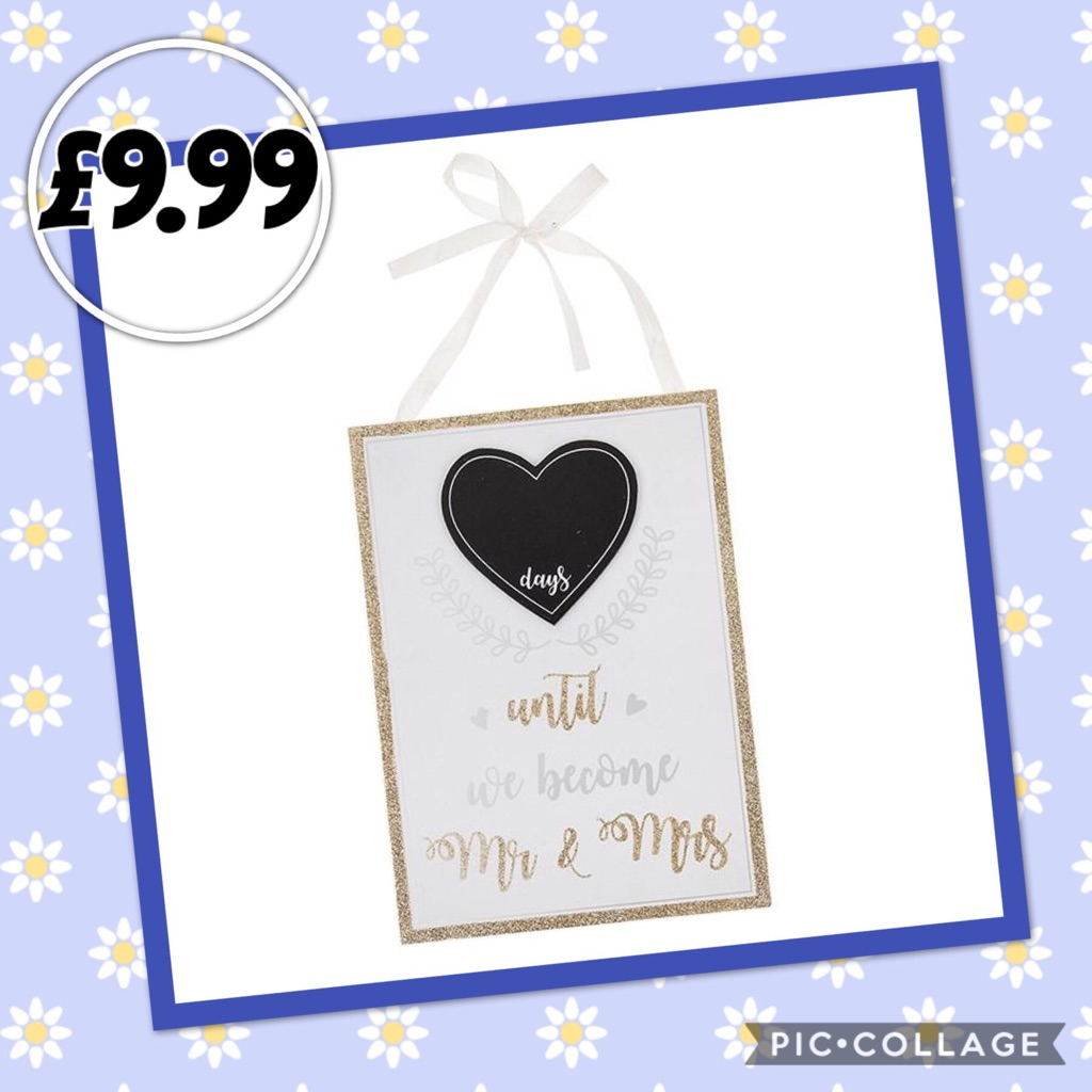 Wedding Day Countdown Plaque