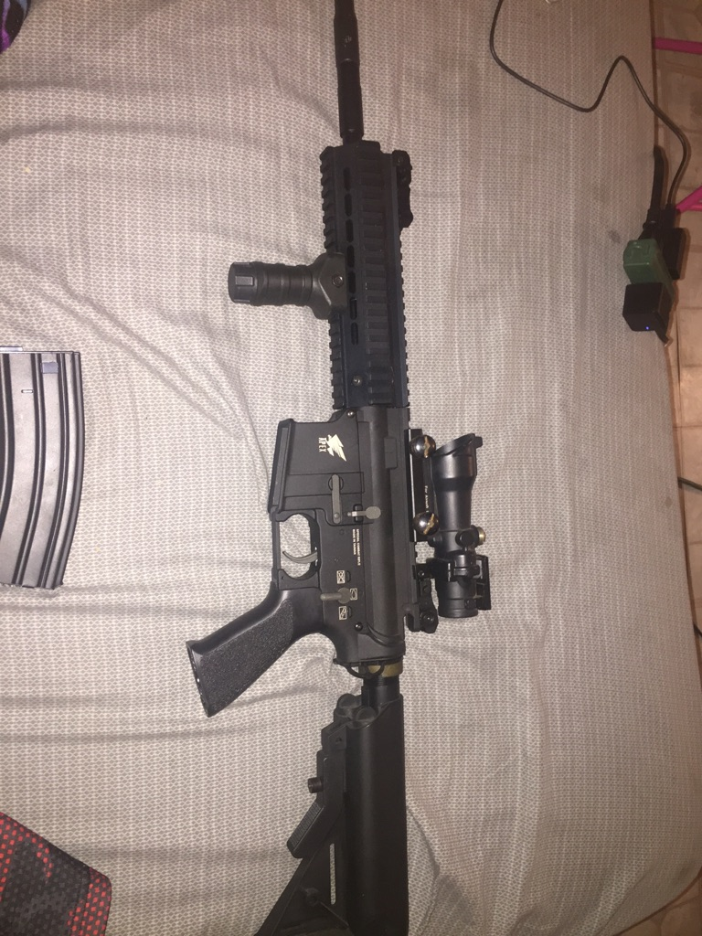 M416 air soft rifle