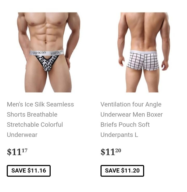 New boxers briefs for man