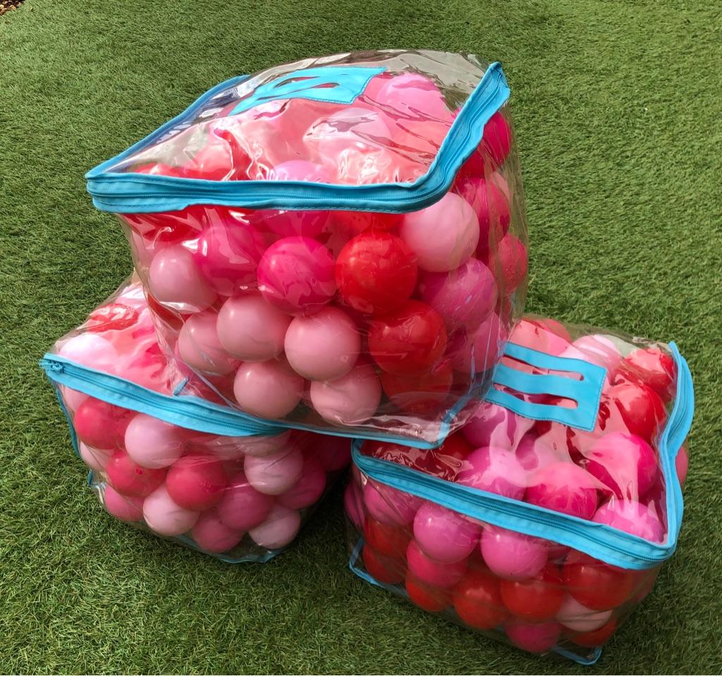 3 x mixed pink balls