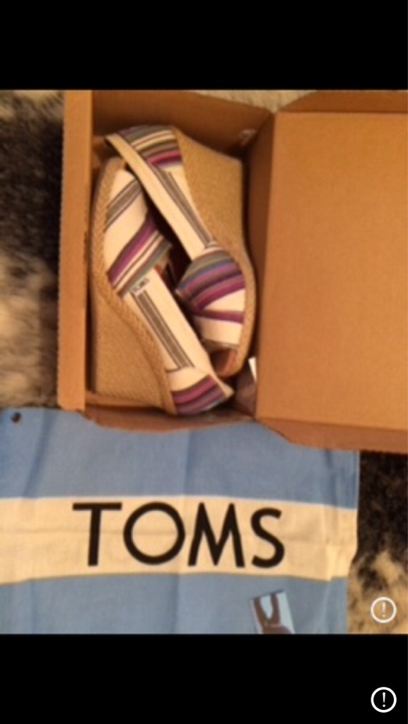 TOMS Wedges brand new size 6 £35