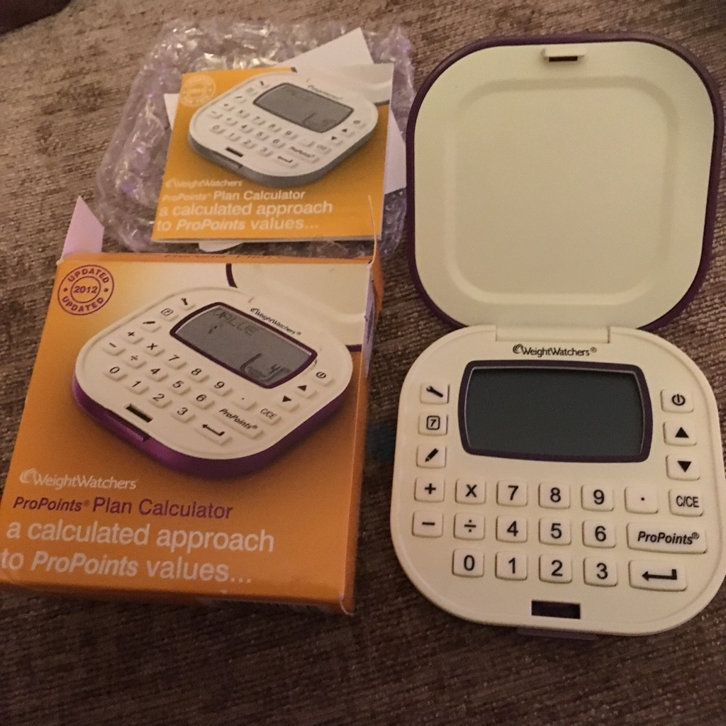 Weight watchers pro points calculator never used