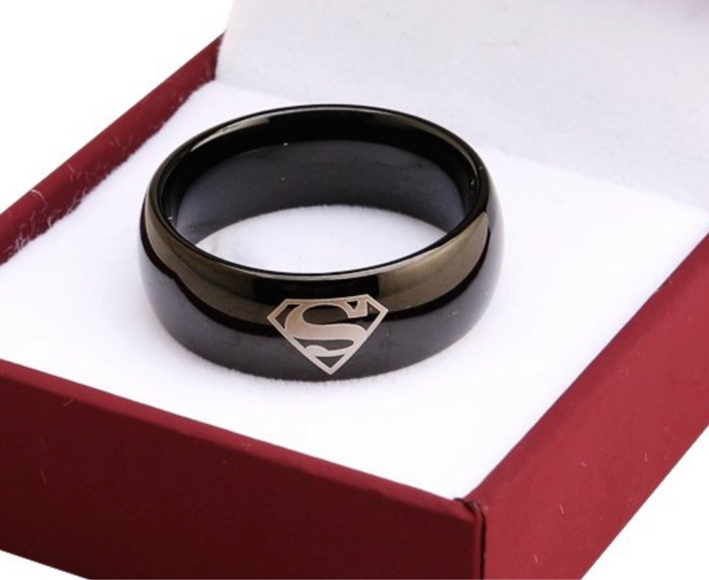 Men's DC inspired Tungsten Ring
