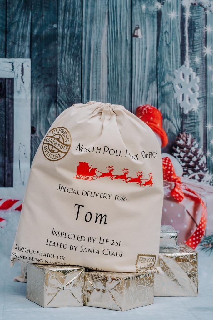 Mrs Claus Personalised Christmas Sacks