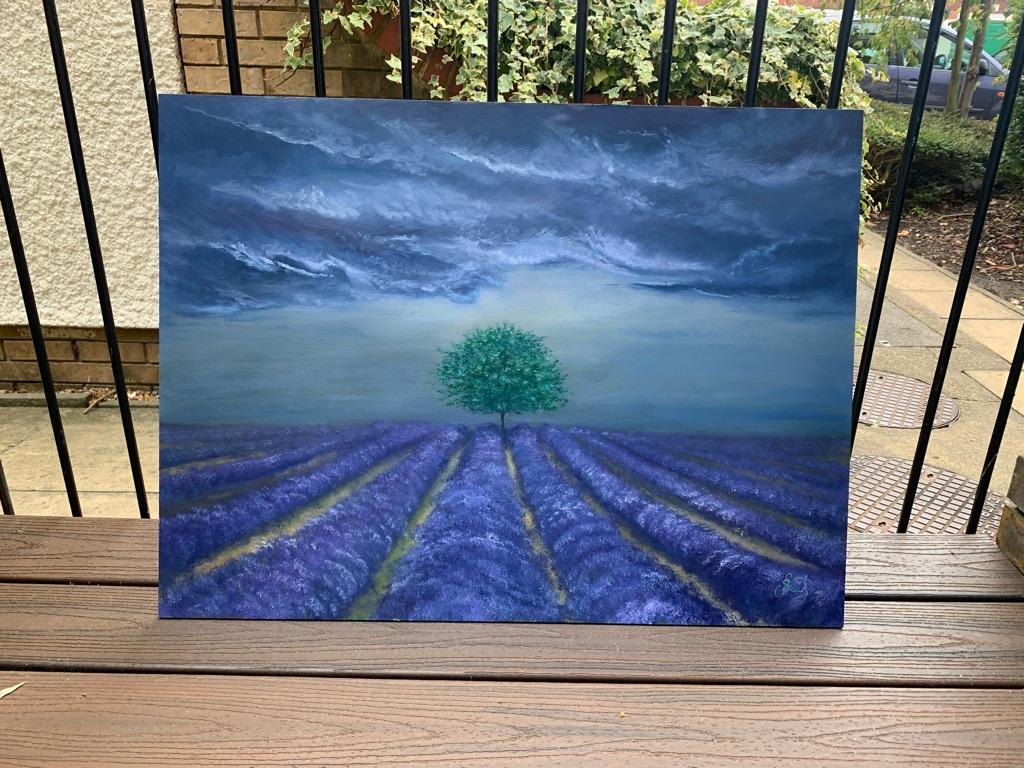 Lavender Wind original painting