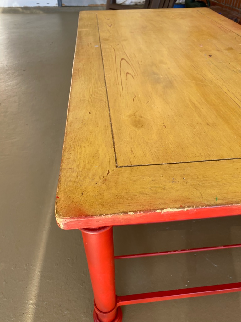 Wooden table needs finishing touches