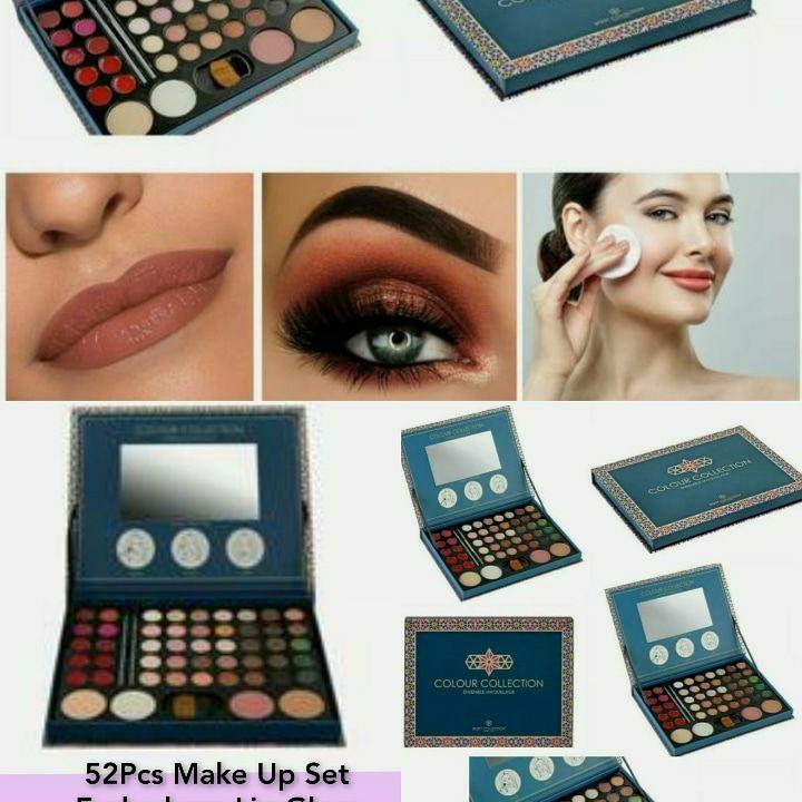 52Pcs Make Up Set Eyeshadow Lip Gloss Face Powder Cosmetics