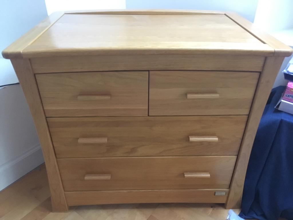 Mamas & Papas Ocean solid oak chest of drawers set
