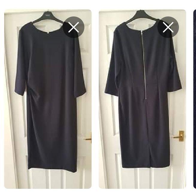 NEXT navy blue work dress, size 16Tall
