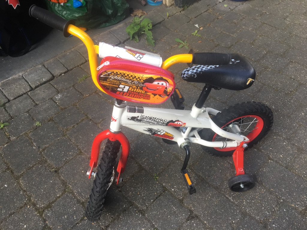 Kids bicycle cars theme in Nearly new condition!!!!