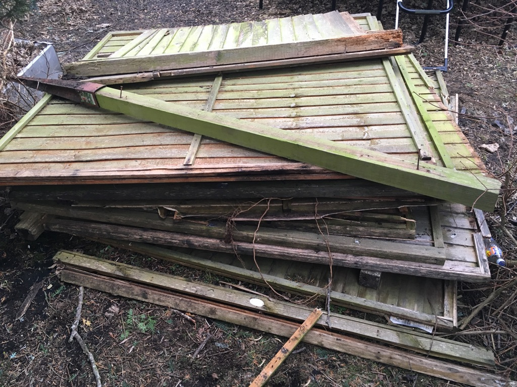 Old timber fence panels