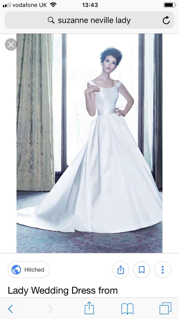 Suzanne Neville Wedding Dress Size 8 Lady