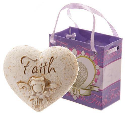 Faith angel whisper heart in gift bag