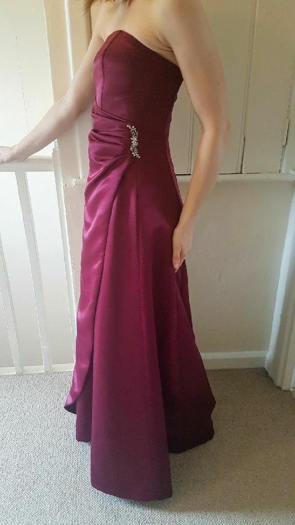 Burgundy floor length gown