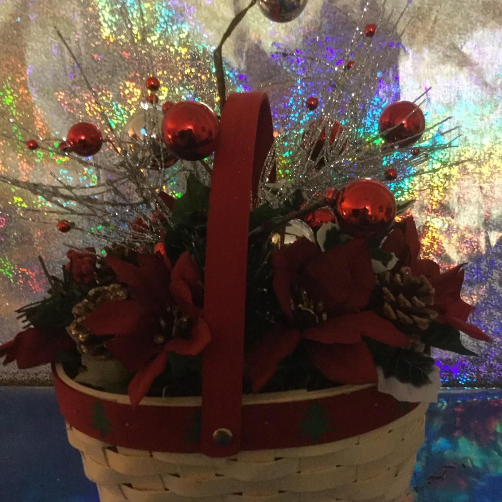 Christmas Tree Flower Basket