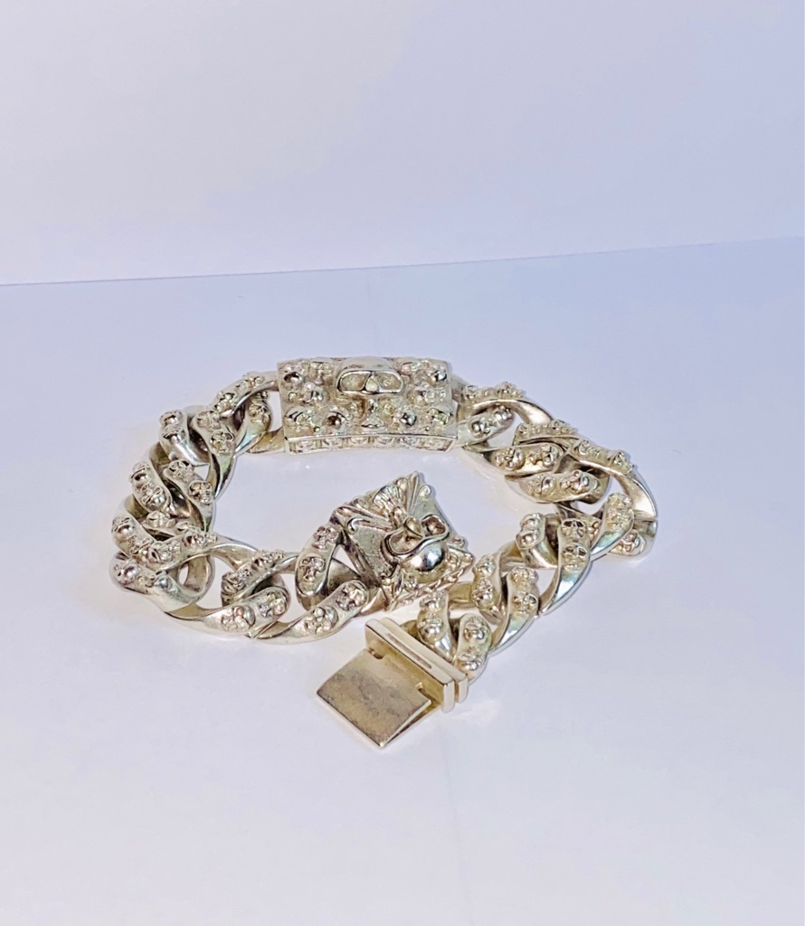 Heavy Sterling silver hand made bracelet