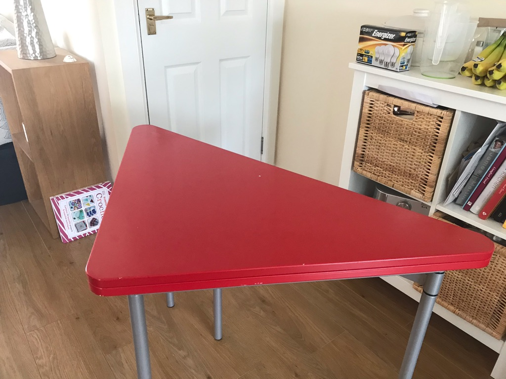 Folding table suitable for kitchen or crafting