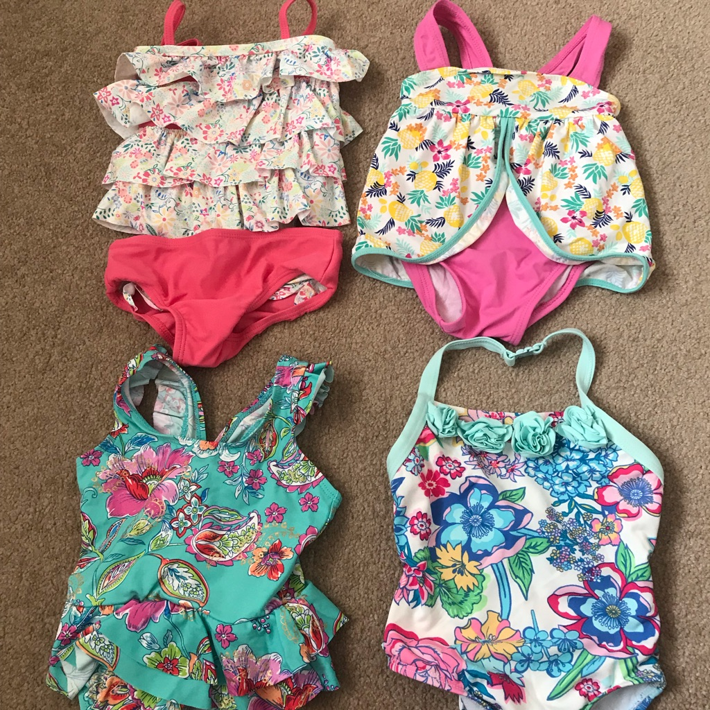4x Monsoon 6-12 months swimming costumes