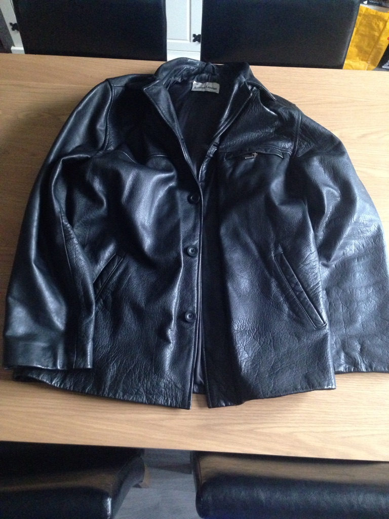 Men's Leather Jacket, Excellent Condition, Heavy Weight, 48 inch Chest