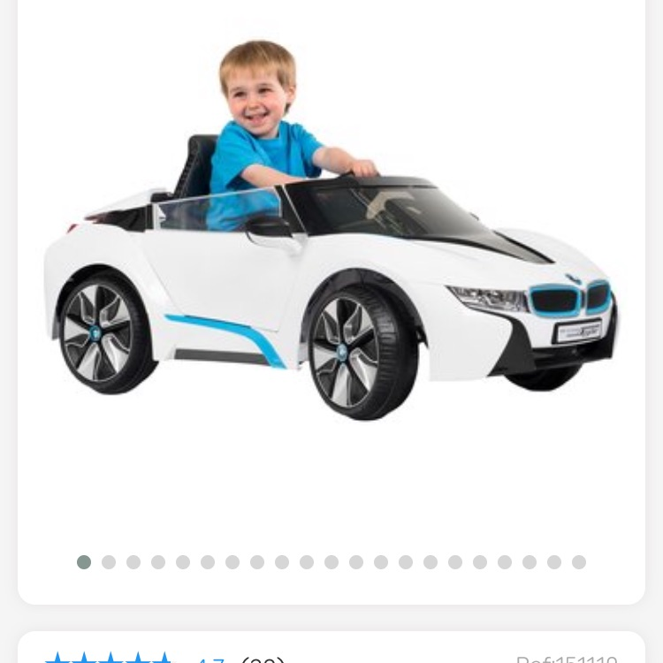 Children's BMW i8 Spyder electric car