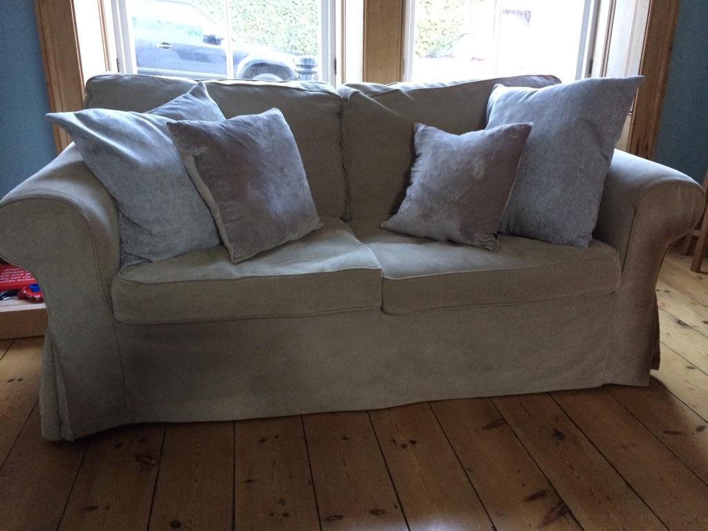 Ikea Ektorp 2 Seat Sofa Blenik Beige Grey Village