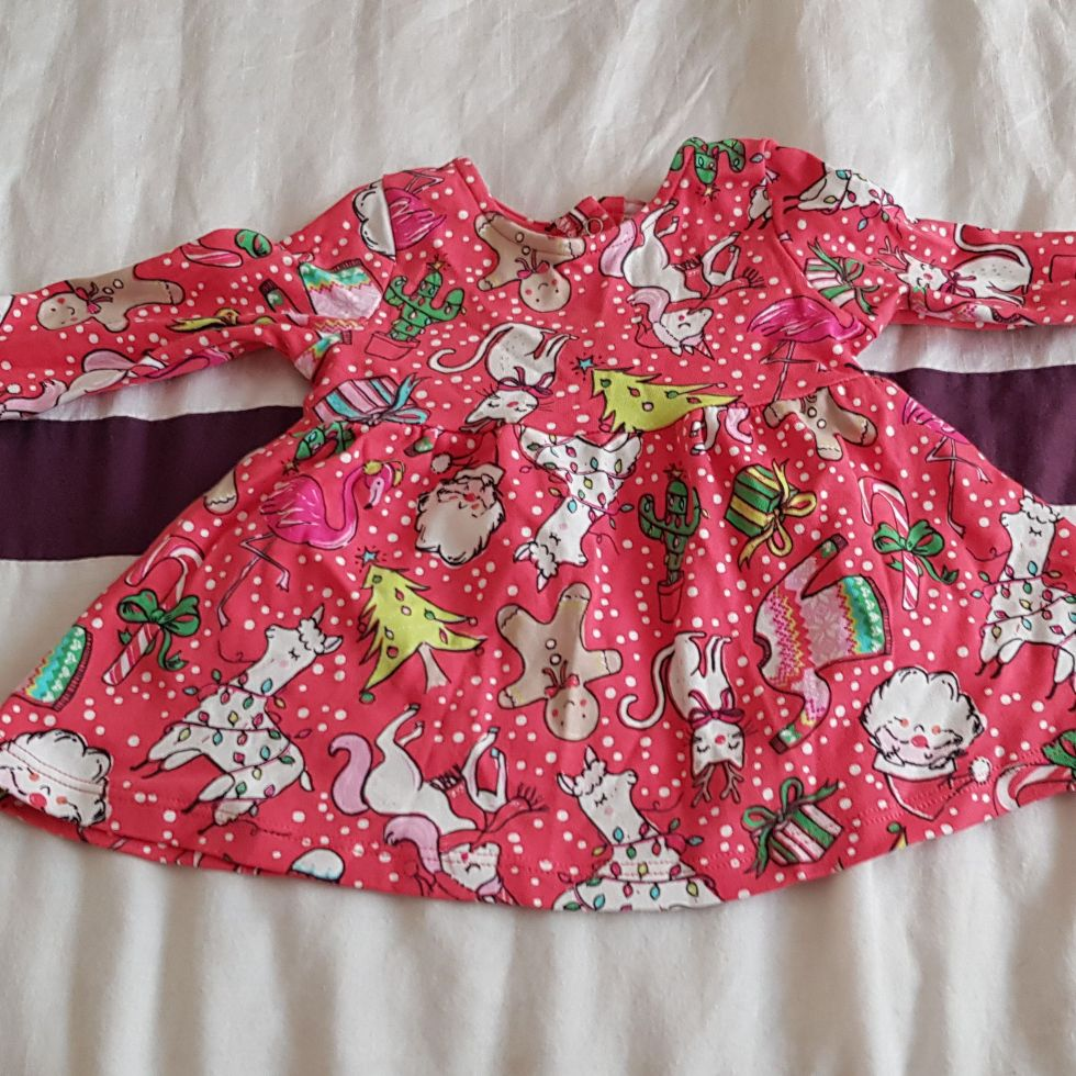 Baby girls Christmas dress 0-3 months.