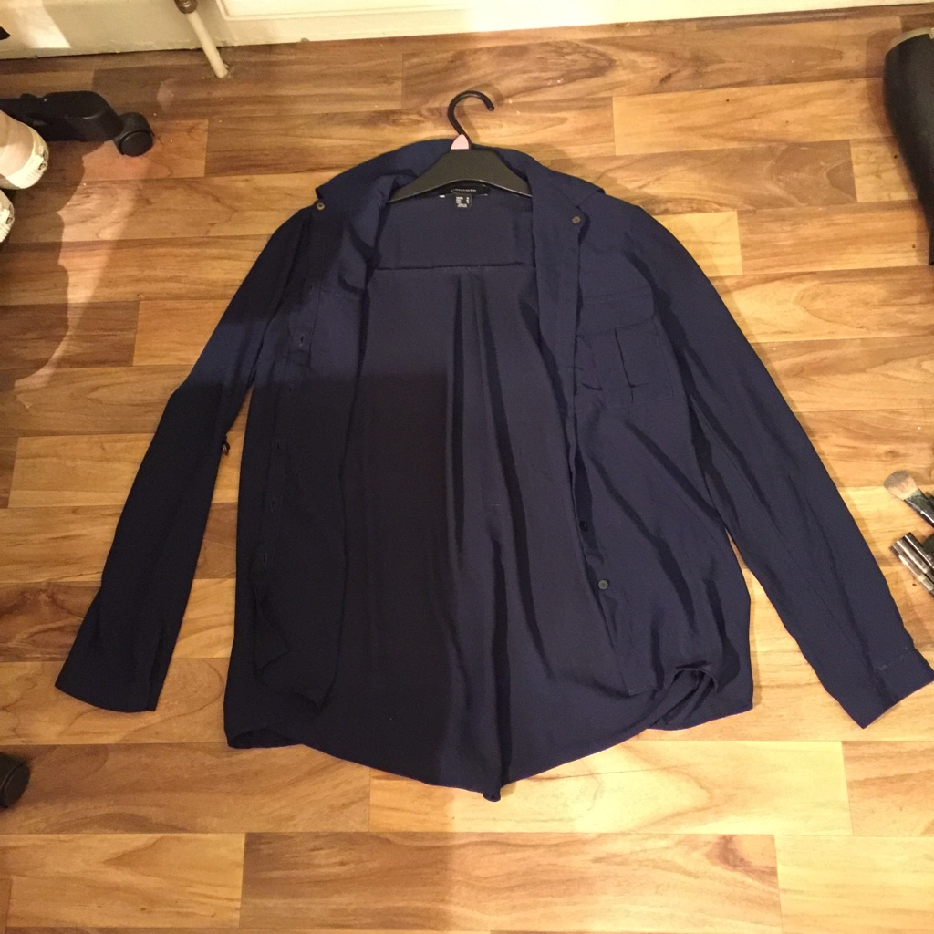 Size 10 Navy Blue Blouse