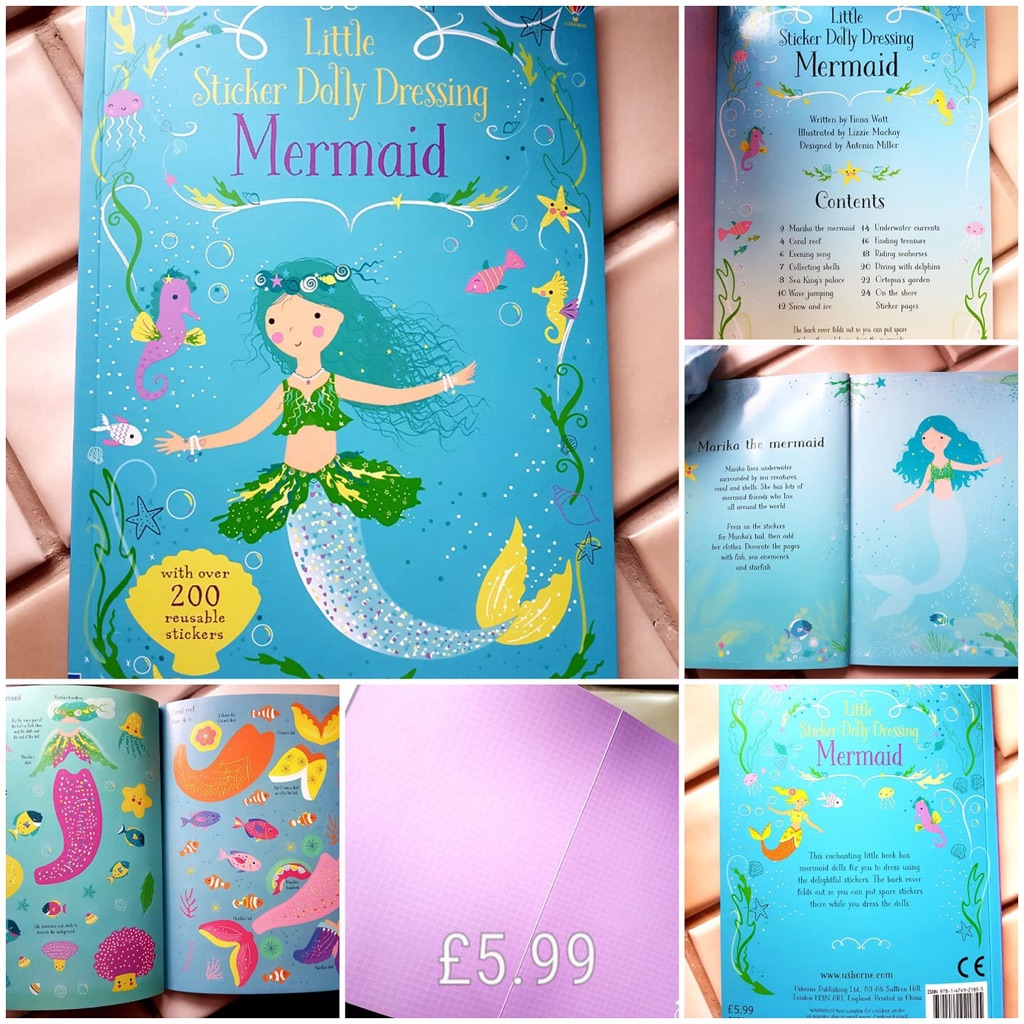 Mermaid story and sticker 📚 book