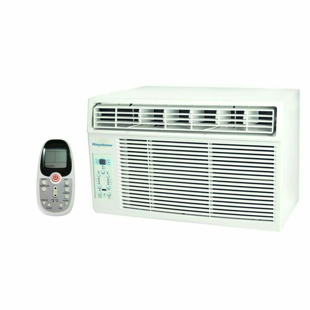 New Keystone Window-Mounted Air Conditioner with Follow Me LCD Remote Control