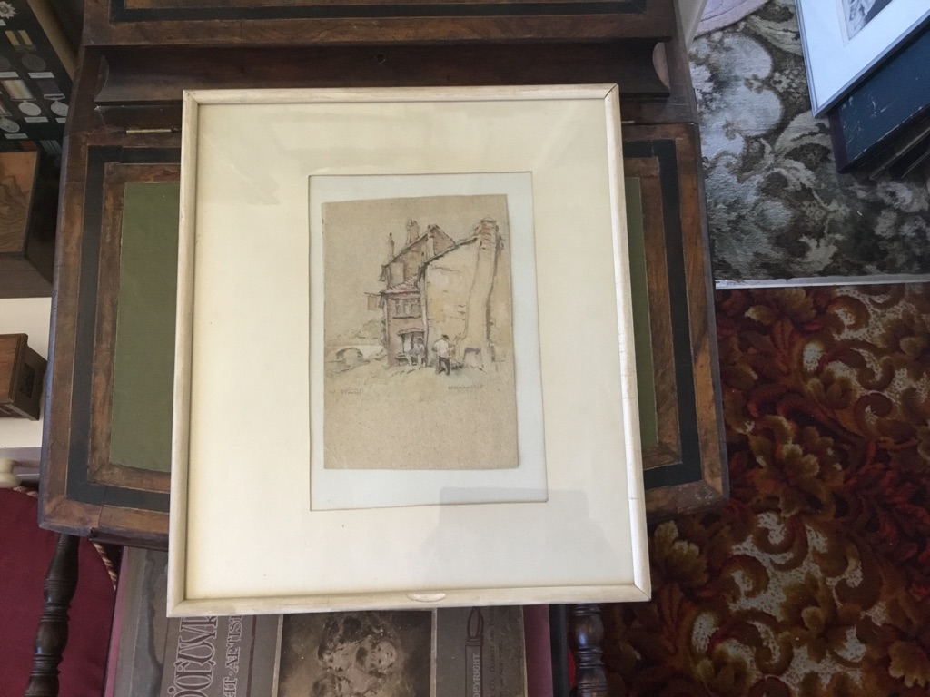 Watercolour of berkhamsted signed William Stewart c1843 15in 17in