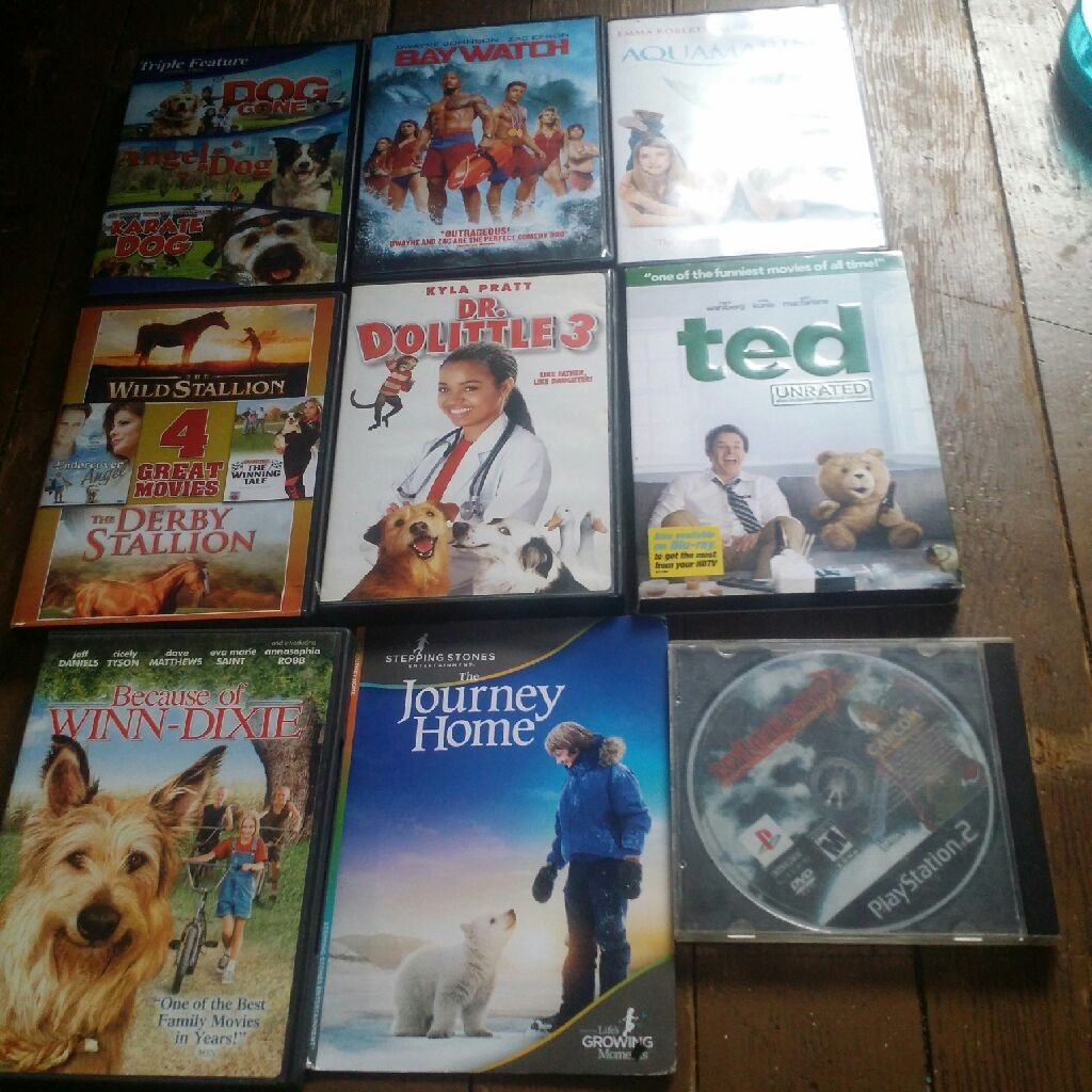 Movies and one game $45 for all 5$ for each
