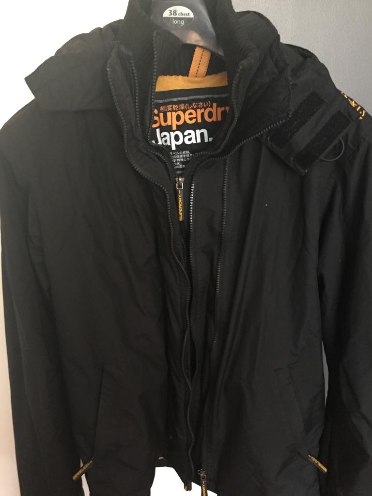 Superdry coat 3 zips& hood