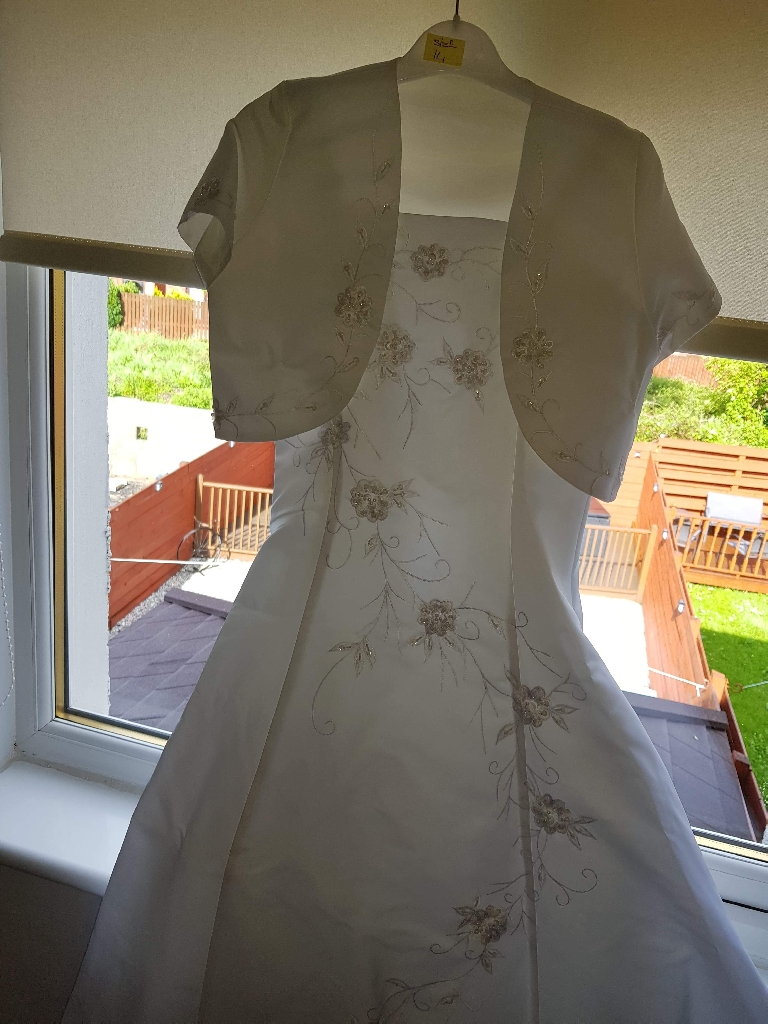 White embroidered communion dress
