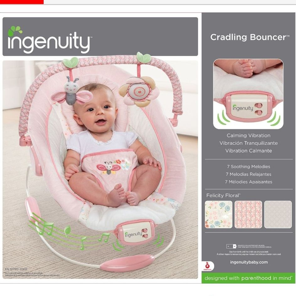 Ingenuity baby bouncer in pink