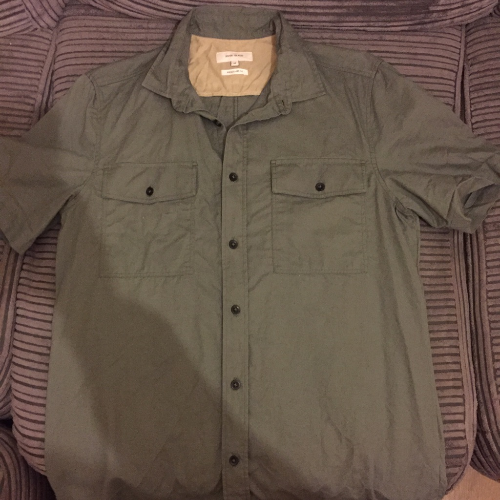 Men's river island khaki shirt