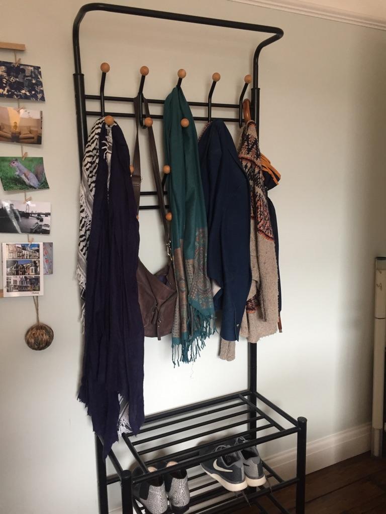 Handy Coat Rack and Shoe Storage