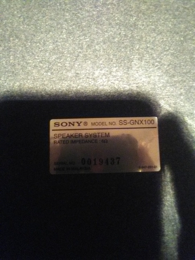 4 Sony speakers