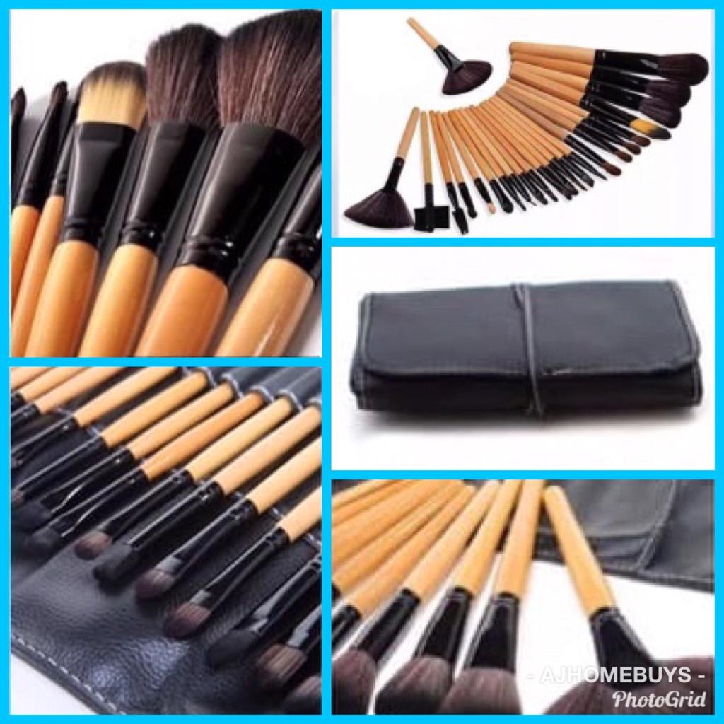 24pc makeup brush set £10
